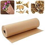 flower205 Braune Kraftpapierrolle 30 Meter Braunes Papier Verpackungsrolle Lebensmittelpapier Für Grill- Und Räucherfleisch Geschenkpapier
