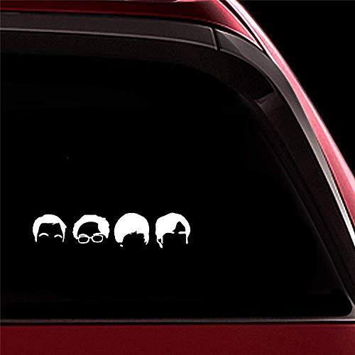 Car Sticker Car Decal 44X10Cm Wide Band Combination Avatar Head Decal Car Window Decor Car Body Window Door Rear Windshield