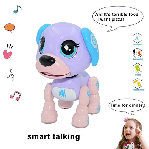 amdohai Interactive Puppy - Smart Pet, Electronic Robot Dog Toys for Age 3 4 5 6 7 8 Year Old Girls, Gifts Idea for Kids ● Voice Control&Intelligent Talking (Purple)