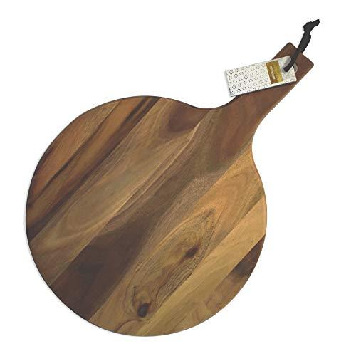 Fackelmann 681653Tabla de Cortar Redonda Acacia, Madera, marrón, 40x 28x 1,8cm