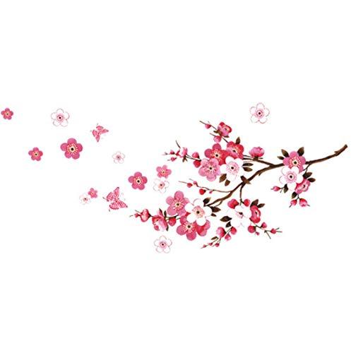 Hermosas Pegatinas De Pared De Sakura, Decoraciones De Dormitorio De Estar, Flores Diy, Calcomanías Para El Hogar De Pvc, Póster De Artes Murales