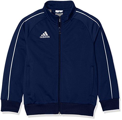 adidas - Core18 PES Jacket - Veste de survêtement - Mixte Enfant - Bleu (Dark Blue/White) - FR: 9-10 ans (Taille Fabricant: 140 cm)