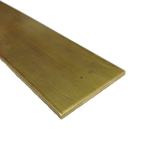 RMP 360 Brass Rectangular Bar, 2 Inch x 1/8 Inch Thickness, 12 Inch Length, Unpolished (Mill) Finish, H01 Temper