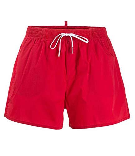 DSQUARED2 Boxershorts für Herren, rot, weiß, aus Nylon, bedruckt. 44