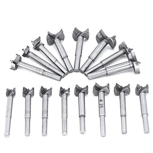 ValueHall 16 PCS Carbide Steel Forstner Drill Bits Set 15-35mm Woodworking Boring Bit Hinge Hole Saw Cutter V7036-2