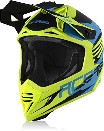 Acerbis X-Track Casco Motocross Blu/Giallo Neon M (57/58)