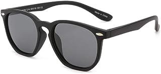 Gosunfly - Gafas de sol para niños de moda polar caja cuadrada sunglasses-C14-sand black_Gray tablet