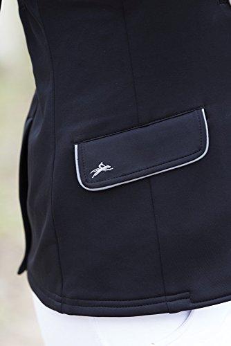 Equi-Theme/Equit'M Unisex's 988480208 Soft Classic Competition Jacke, schwarz/graue Paspelierung, One Size, 988480208
