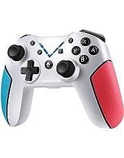 Jamswall Controller Wireless per Nintendo Switch, Gamepad Bluetooth Supporta Turbo, 6-Axis Gyro, Dual Vibrazione, Joystick Ergonomico per Nintendo Switch/Lite/PS3/Android/PC (Bianco)