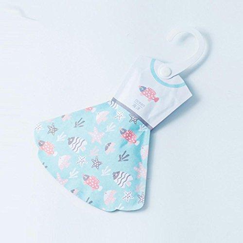 Igemy Creative Crochet Style d'encens Sac Garde-robe Princesse Jupe Forme Sac Anti-fungicide Pest Control Aroma Parfum Package
