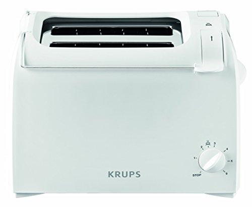 Krups ProAroma KH1511 - Tostadora, 700W, 2 rebanadas, blanco