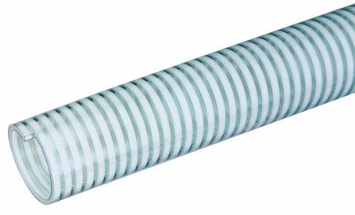 Tigerflex MILK-LT Series Low Temperature Food Grade PVC Liquid Suction Hose, 75 PSI Max Pressure, 1-1/2 inches ID, 100 feet Length
