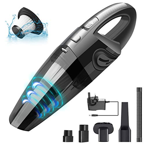 Supoggy Handheld Vacuums Cleaner Cordless, Car Vacuum Cleaner 120W 3500Pa Powerful Suction, Rechargeable Wet Dry Car Vacuum Cleaner for Home, Pet and Office