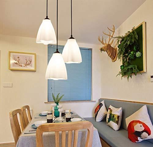 HYY-YY Lampada a Sospensione Bar Contatore Ristorante Lampada Moderna Lampada Da Tavolo Tre Lampadari, 42cm (Colore: 42cm)