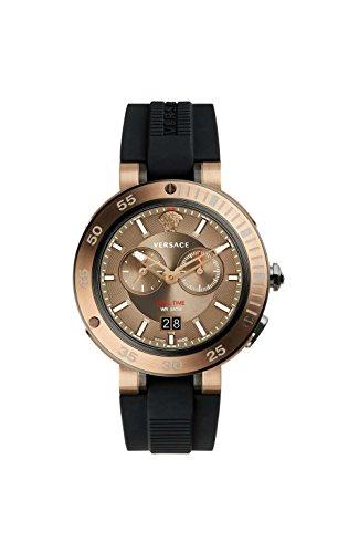 Versace Reloj Cronógrafo para Hombre de Cuarzo con Correa en Caucho VCN030017