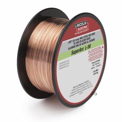 Lincoln Electric ED030583 Superarc L-56 Mig Welding Wire, .025-In., 2-Lb. Spool - Quantity 5
