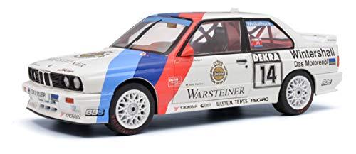 Solido S1800507 BMW M3#14, Fahrer: M. Winkelhock, DTM, Modellauto, 1:18, weiß