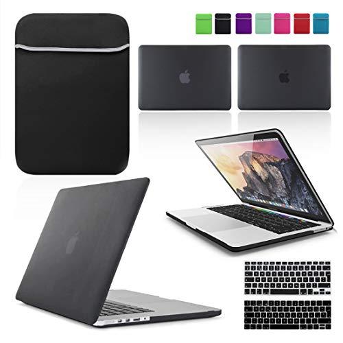 Color Negro Se7enline 2019 Pantalla Retina Modelo A2141 Funda de Silicona para MacBook Pro de 16 con Touch Bar Touch ID