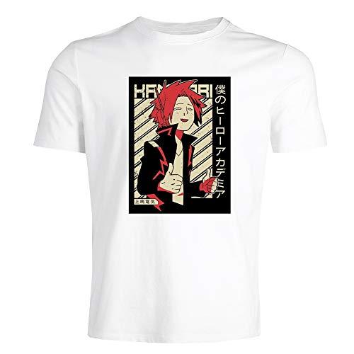 AKlamater Herren-T-Shirts, My Hero Academia T-Shirts, weiß, schwarz, grau Gr. S, weiß
