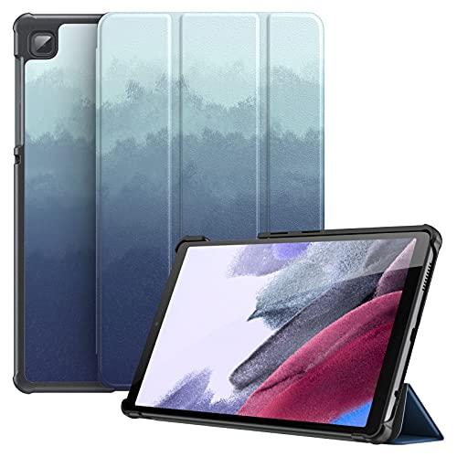Dadanism Hülle Kompatibel mit Samsung Galaxy Tab A7 Lite 8,7 Zoll 2021 (SM-T220/T225/T227), Leicht Schutzhülle mit Standfunktion PU Leder Tablet Hülle für Samsung Tab A7 Lite, Trübes Blau