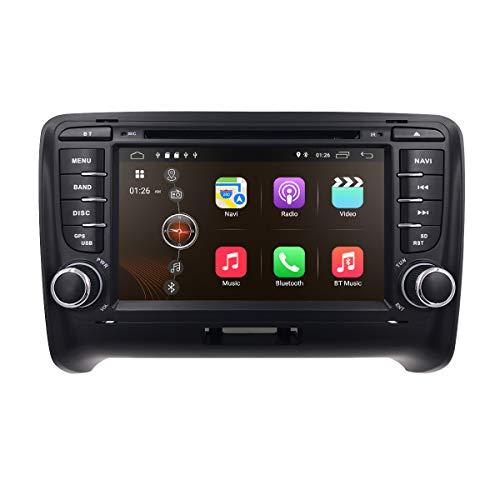 Android 10 OS 7 Pulgadas 2 DIN Car Radio estéreo Soporte Navegación GPS Reproductor de DVD Bluetooth USB SD Subwoofer 4G WiFi Zona Dual 1080P Ajuste para Audi TT MK2 2006-2013