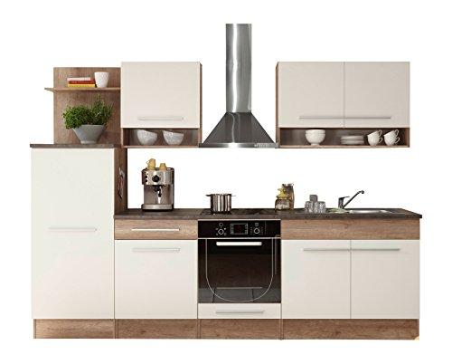Stella Trading Welcome 1 Küche, Holzdekor, Monument Oak-Weiß, ca. 280 x 204 x 60 cm