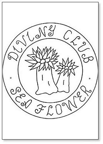 Imán para nevera con diseño de flor de mar de Actinia Anemone y Diving Club