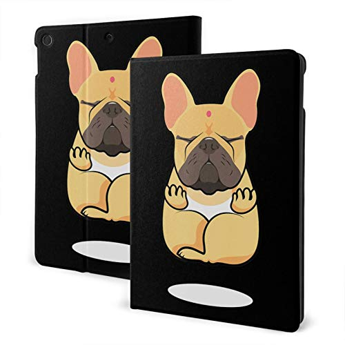 French Bulldog Yoga Lover Case for iPad 8th Generation Case 10.2 inch Smart Cover with Auto Wake/Sleep Slim Stand Hard Back