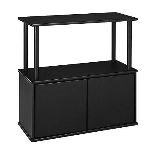 Aquatic Fundamentals Black Aquarium Stand with Storage Cabinet - for 10 and 20 Gallon Aquariums, 25 IN
