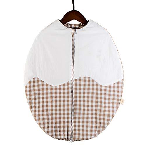 LUO'S Schlafsäcke Baby-Schlafsack aus Reiner Baumwolle Quilt, Neugeborenes Ei-Typ Kick-Beweis Quilt, Anti-Schock 0-5 Monate Unisex (Color : Coffee Color)
