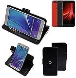 K-S-Trade® Handy Hülle Für UMIDIGI Z1 Pro Flipcase Smartphone Cover Handy Schutz Bookstyle Schwarz (1x)