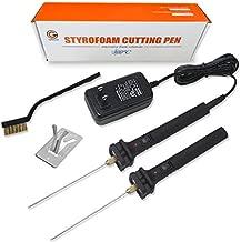 Foam Cutter, Genround Styrofoam Cutter 572°F Electric Cutting Machine Hot Wire Foam Cutter - 2 x 4 inch Foam Cutting Pen Foam Cutting Tools for Polyethylene EVA Foam Carving, DIY Crafts