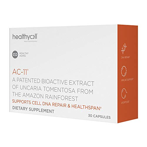 41LyhGDOAmL - Healthycell AC-11 Supplement - DNA Repair Extract from Amazon Uncaria tomentosa Cat's Claw - Supplement for Anti Aging - Stem Cell Support - Immune Boosting - 350mg Natural Capsules (30 Pack Supply)