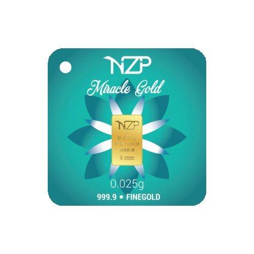 Nzp Goldbarren 0,025 Gramm, Goldbarren 0,025g, Feingehalt 999,9