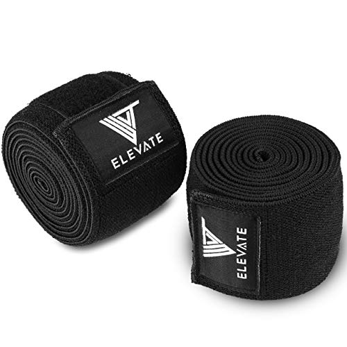 Elevate Equipment Gym Knee Wraps for Weight Lifting Bodybuilding Crossfit...