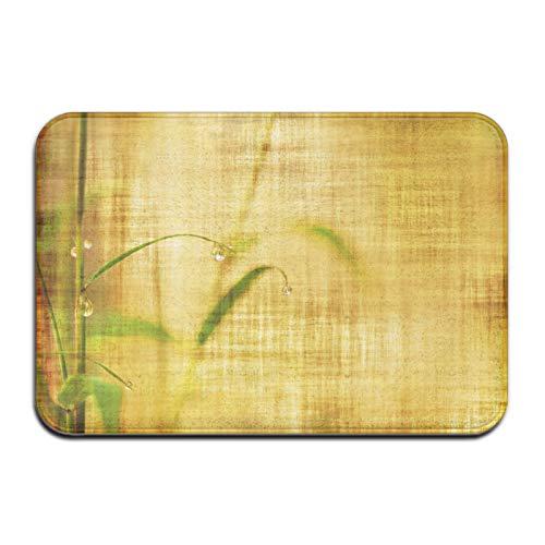 N\A Alfombra de Felpudo de Alfombra de baño de Hojas de bambú Vintage, Alfombra Antideslizante para baño de Entrada de Cocina Interior al Aire Libre