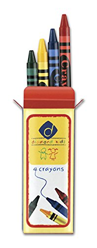Diamond Kid's Quality 4 Colors Crayons (Red, Yellow, Green and Blue) - Bulk Buy 60 sets 240 Crayons Non-toxic ingredients, Proven product safety to ASTM-D4236