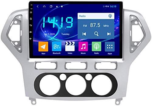 AEBDF Android 9.1 Navegación estéreo de automóvil para Ford Mondeo 2007-2010,9 Pulgadas Sat Nav Pantalla táctil Bluetooth Player Multimedia con Enlace de Espejo,4Core WiFi 1+16G