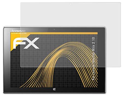 atFolix Panzerfolie kompatibel mit Lenovo IdeaTab Miix 2 10 Schutzfolie, entspiegelnde & stoßdämpfende FX Folie (2X)