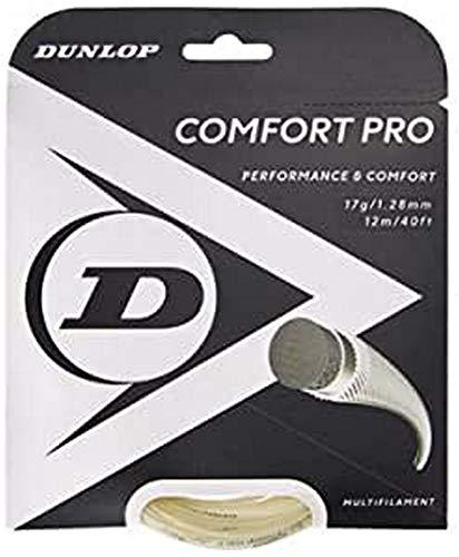Dunlop Unisex-Adult 624814 Tennis String Comfort Pro 12m Set 128mm 1Stück, Natural, One Size
