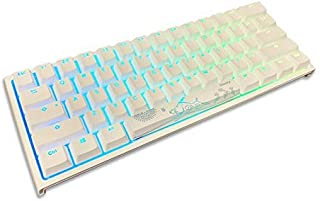 Ducky One 2 Mini Pure White - RGB LED 60% Double Shot PBT Teclado mecánico