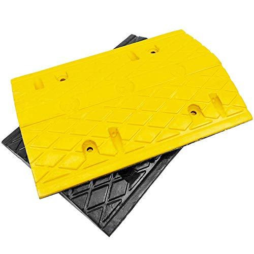 PrimeMatik - Badén Reductor de Velocidad para Coches 500x340x50mm 2-Pack