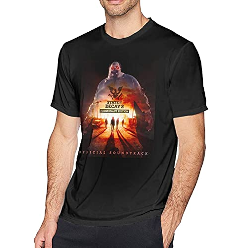 BEONDSK State of Decay 2 Juggernaut Edition Mens Short Sleeves Round Neck Cotton T Shirts