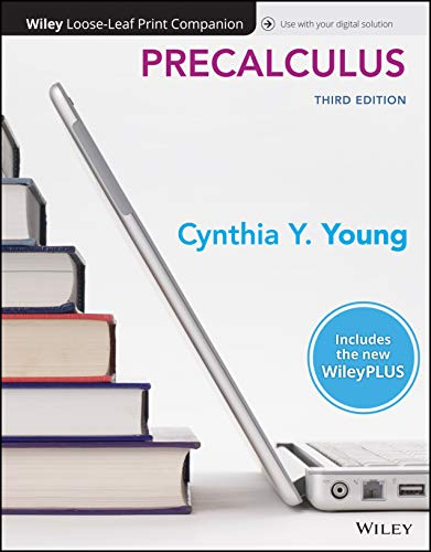 Compare Textbook Prices for Precalculus, WileyPLUS NextGen Card with Loose-leaf Set Single Semester 3 Edition ISBN 9781119765790 by Young, Cynthia Y.