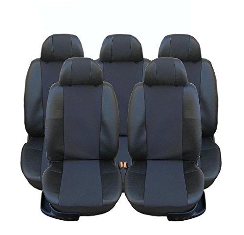5 x stoelen kunstleer stoelhoezen beschermhoezen zwart nieuw originele verpakking hoogwaardig
