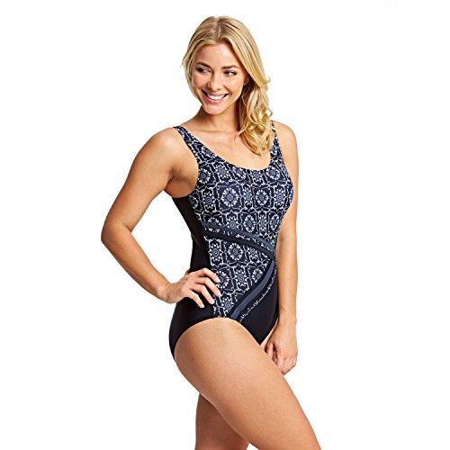 Zoggs - Bañador para Mujer, Mujer, Traje de baño de una Pieza, 115018032, Negro, 32-Inch/Size 8