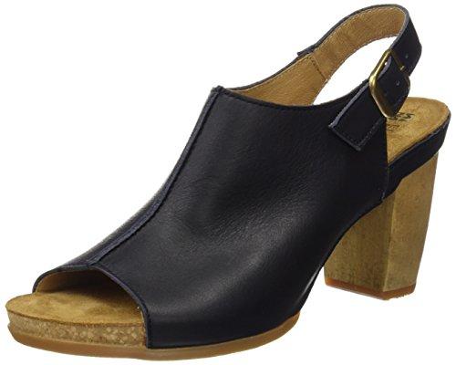El Naturalista Kuna, Zapatos de tacón con Punta Abierta Mujer, Negro (Black), 37 EU
