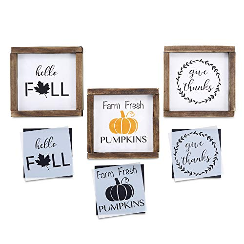 give thanks farm fresh pumpkins hello fall stencil set reusable sign stencils for painting on the disney experience