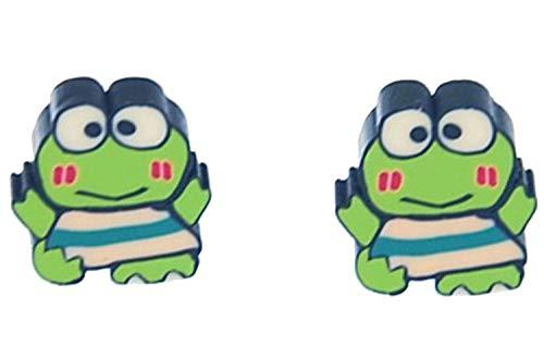 Frosch ganz Ohrstecker Miniblings Stecker Ohrringe Kawai Manga Comic Tier 1cm