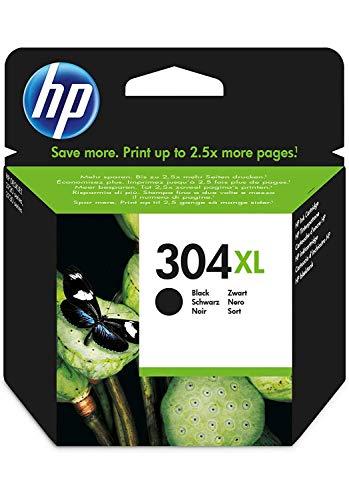 HP 304XL N9K08AE ABE Black Original High Capacity Ink Cartridge - Cartucho de tinta para impresoras (Negro, Alto, HP, Deskjet 3720, Deskjet 3730, Inyección de tinta)